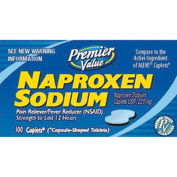 Premier Value Naproxen Caplets 220Mg - 100ct