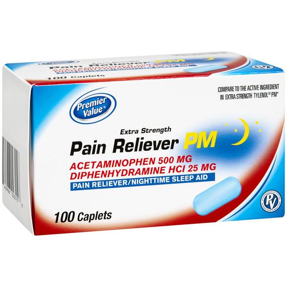 Premier Value Non-Asa Pm Caplets 500Mg - 100ct