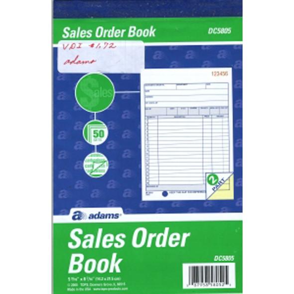 """Sales Order Book - Carbonless, 5X8.5"""" - 1 Pkg"""