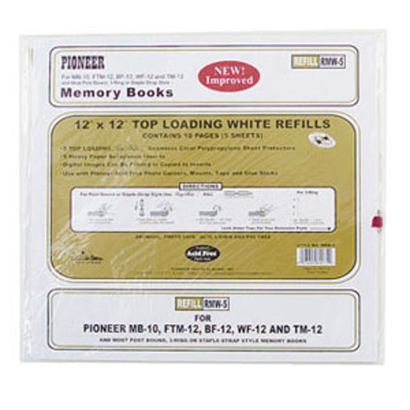 "Memory Book Refill, Scrapbook, Clear, 12""X12"" - 1 Pkg"