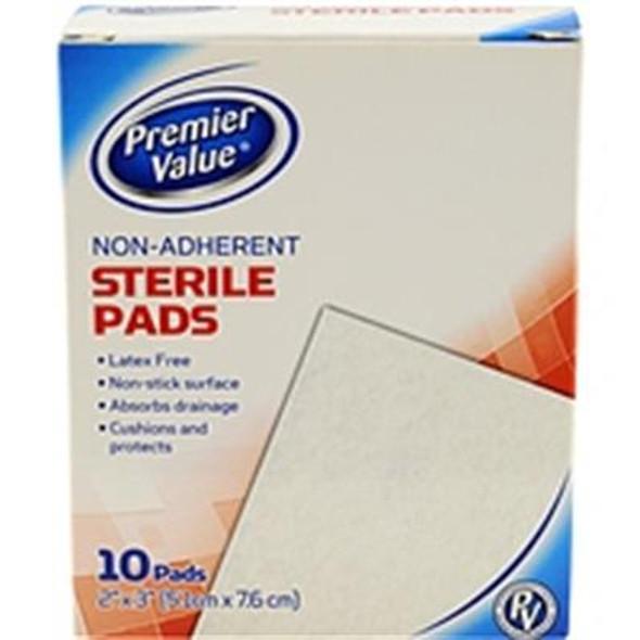 Premier Value Sterile Pads Nonadhere 2X3 - 10ct
