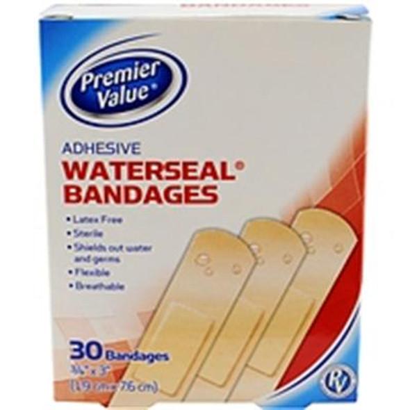 "Premier Value Waterseal Bandage 3/4""X3"" - 30ct"