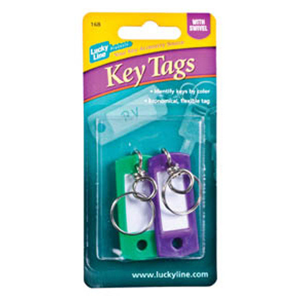 Id Key Tag W/ Swivel Key Ring, Asst - 1 Pkg