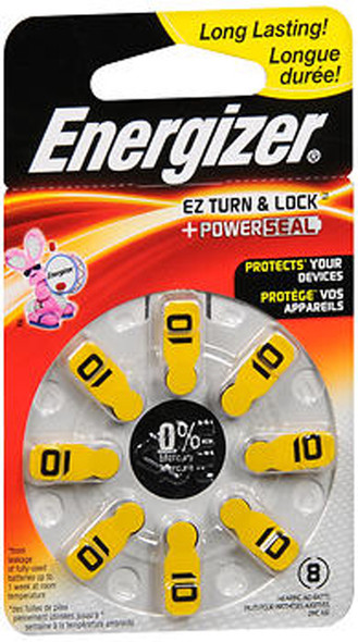 Energizer EZChange Hearing Aid Batteries Size 10 - 8pk