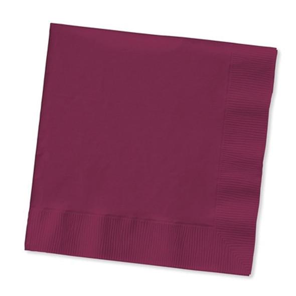 Solid Color Luncheon Napkins, Burgundy, 50 Ct - 1 Pkg