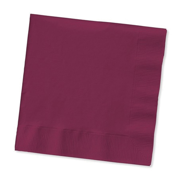 Solid Color Luncheon Napkins, Burgundy, 50 Ct - 1 Pkg