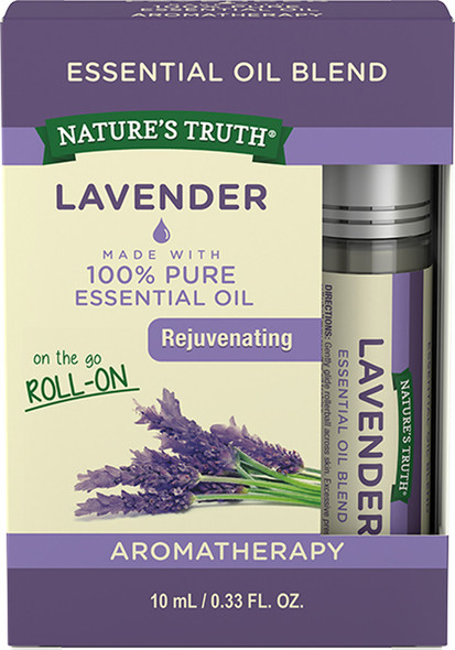 Nature's Truth On the Go Essential Oil Blend Roll-On Lavender- .33 oz