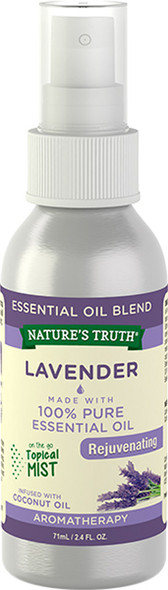 Nature's Truth Lavender Rejuvenating On the Go Hydrating Mist - 2.4 oz