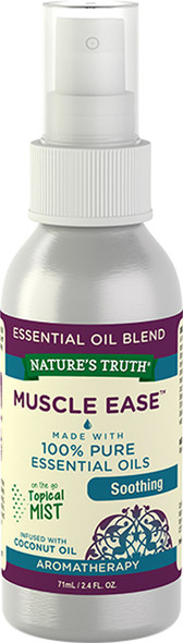 Nature's Truth Muscle Ease Soothing On the Go Hydrating Mist - 2.4 oz