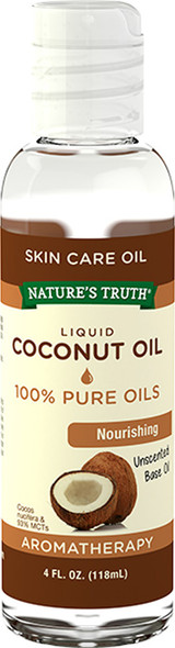 Nature's Truth Liquid Coconut Oil Unscented - 4 oz