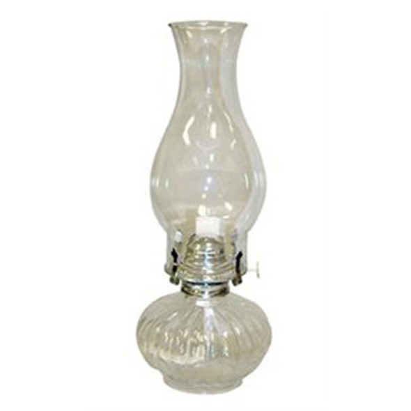 Ellipse Clear Glass Oil Lamp