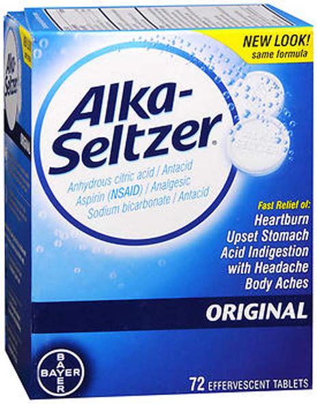 Alka-Seltzer Original Effervescent Antacid Tablets 72 ea