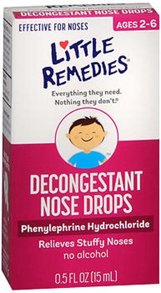 Little Remedies For Noses Decongestant Nose Drops - 0.5 oz