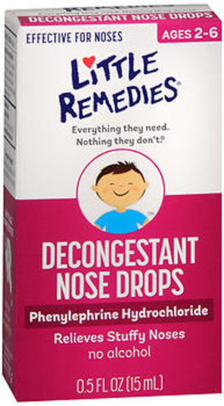 Little Remedies For Noses Decongestant Nose Drops - 0.5 oz