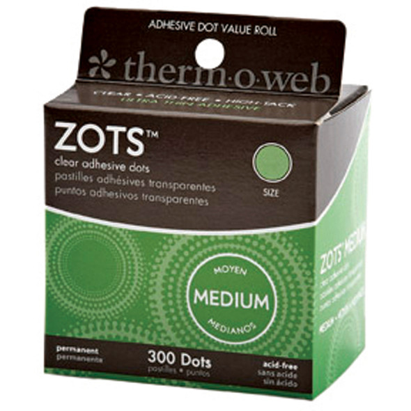 """Adhesive Memory Zotst, Clear, 3/8"""" - 300 ct"""