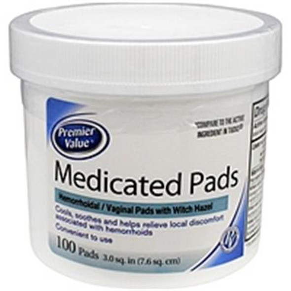 Premier Value Hygienic Pads - 100ct