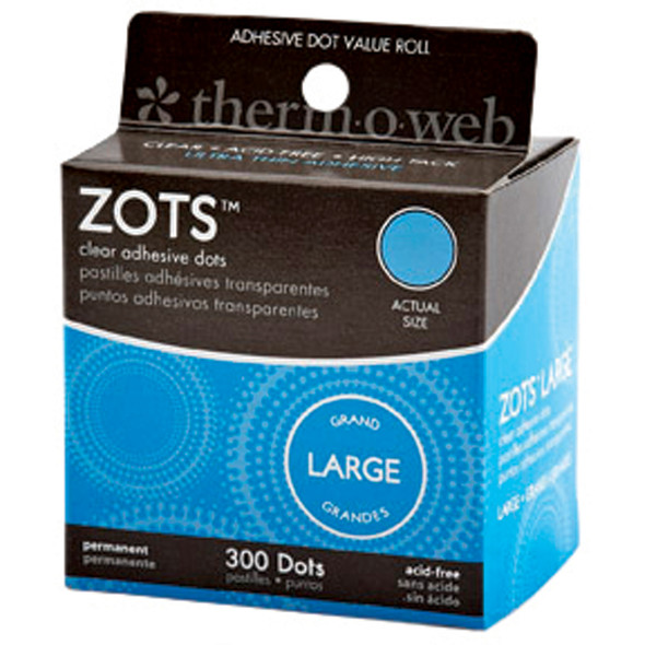 "Adhesive Memory Zots-300Ct, Clear, 1/2"" - 1 Pkg"