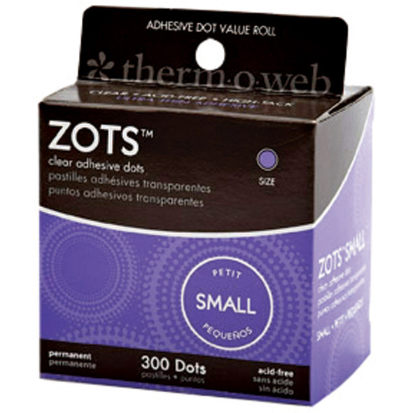 Adhesive Memory Zots-300Ct, Clear - 1 Pkg