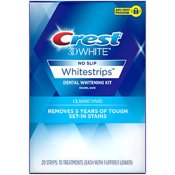 Crest 3D White Whitestrips Dental Whitening Kit Classic Vivid - 12 each