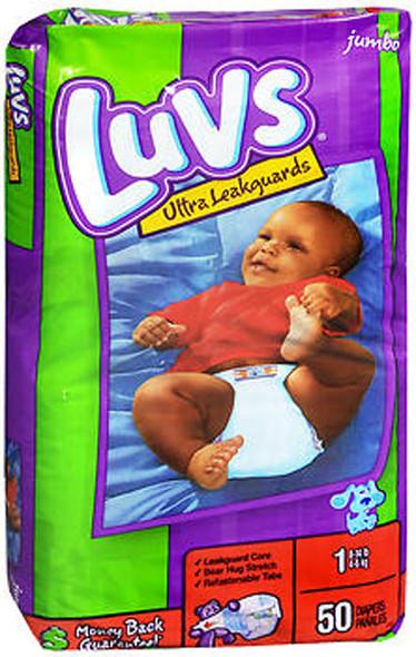 Luvs Ultra Leakguard Diapers Size 1, 8-14 lb - 2 packs of 48