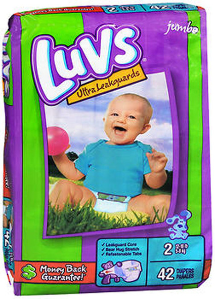 Luvs Ultra Leakguard Diapers Size 2, 12-18 LBS - 2 packs of 40