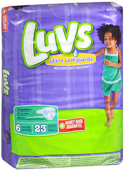 Luvs Ultra Leakguard Diapers Size 6 - 4 packs of 21