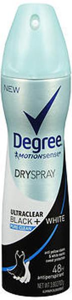Degree MotionSense Dry Spray Antiperspirant UltraClear Black + White Pure Clean - 3.8 oz