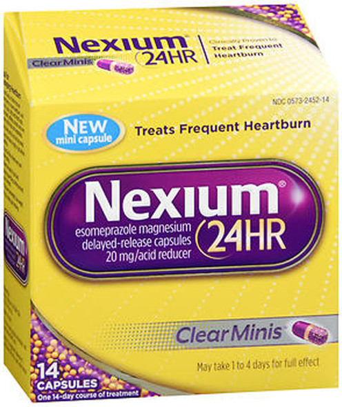 Nexium 24HR Capsules Clear Minis - 14 ct
