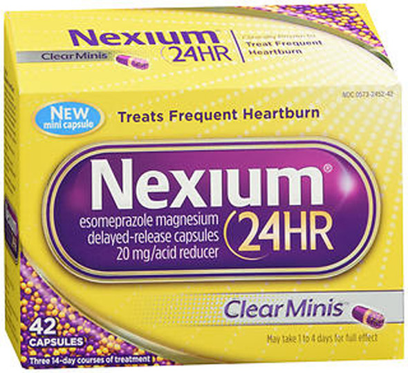 Nexium 24HR Capsules Clear Minis - 42 ct