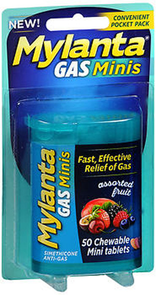 Mylanta Gas Minis Chewable Tablets Assorted Fruit - 50 ct