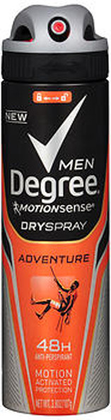 Degree Men MotionSense Dry Spray Anti-Perspirant Adventure - 3.8 oz