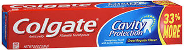 Colgate Cavity Protection Fluoride Toothpaste Regular Flavor - 8 oz