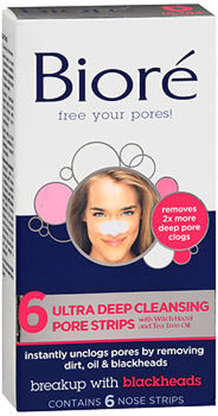 Biore Ultra Deep Cleansing Pore Strips Nose - 6 strips