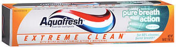 Aquafresh Extreme Clean Pure Breath Action Fluoride Toothpaste Fresh Mint - 5.6 oz