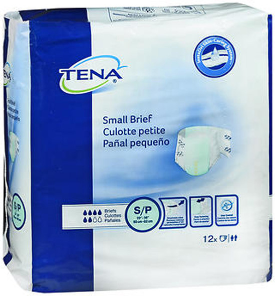 Tena Briefs Small, 22-36 Inches - 8 pks of 12