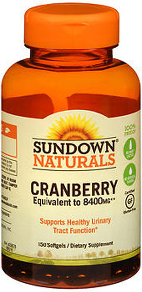 Sundown Naturals Cranberry Equivalent to 8400 mg Dietary Supplement - 150 Softgels