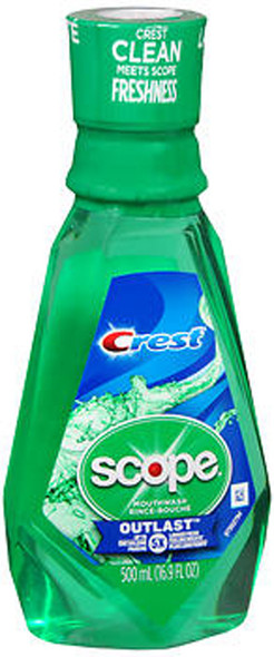 Scope Crest Outlast Mouthwash - 16.9 oz