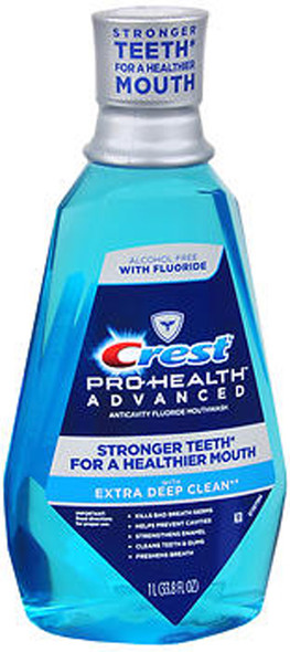 Crest Pro-Health Advanced Anticavity Fluoride Mouthwash Extra Deep Clean - 33.8 oz