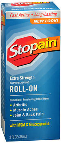 Stopain Extra Strength Pain Relieving Roll-On - 3 oz