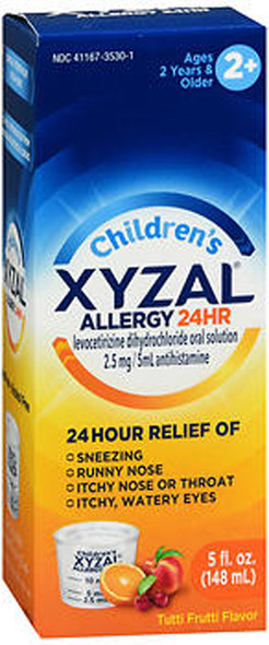 Xyzal Children's 24 Hour Allergy Relief Tutti Frutti Liquid Syrup - 5 oz
