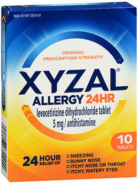 Xyzal Allergy 24 Hour - 10 Tablets