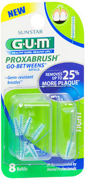 GUM Go-Betweens Proxabrush Refills Tight - 8 ct
