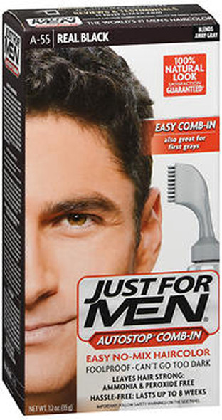 Just For Men AutoStop Formula Hair Color Real Black A-55