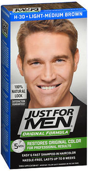 Just For Men Original Formula Haircolor Light Medium Brown H-30