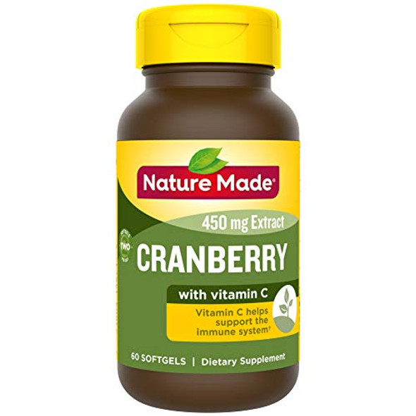 Nature Made Cranberry 450 mg Extract Softgels Super Strength - 60 ct