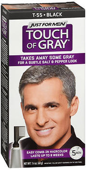 Just For Men Touch of Gray Hair Color T-55 Black - 1 ea