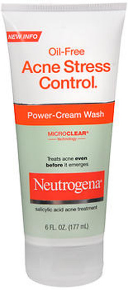 Neutrogena Oil-Free Acne Stress Control Power-Cream Wash -  6 oz