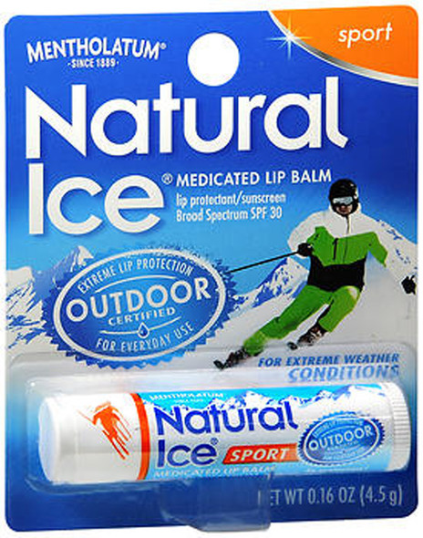 Mentholatum Natural Ice Medicated Lip Balm Sport SPF 30 - 12 ct