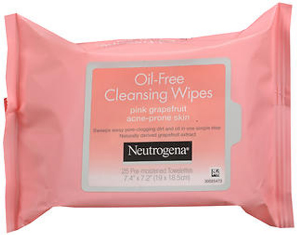 Neutrogena Oil-Free Cleansing Wipes Pink Grapefruit - 25 ct