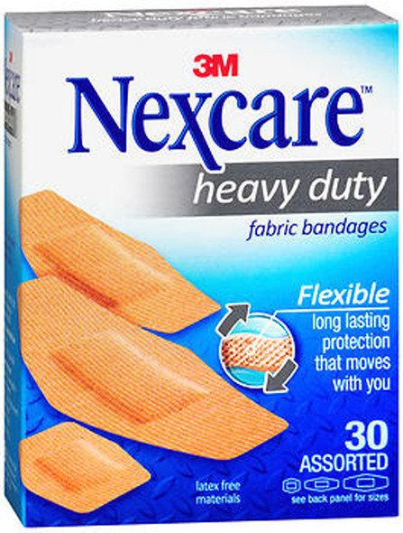 Nexcare Heavy Duty Flexible Fabric Bandages - 30 Assorted